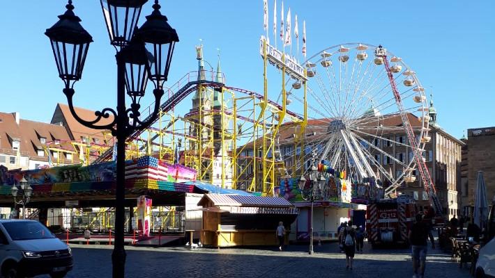 Helmut im Riesenrad auf dem Hauptmarkt